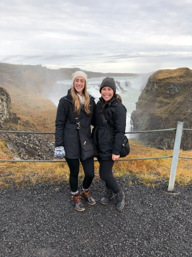 Michelle & Kelli Gullfoss Waterfall