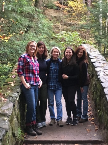 Hocking Hills with my friends and former Mercy co-workers