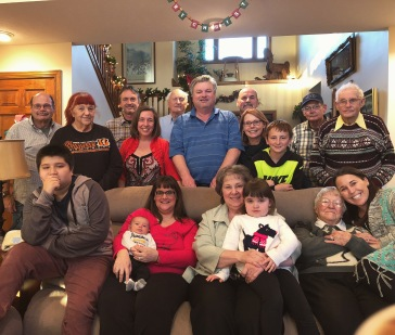 Christmas 2017 at the Wall house