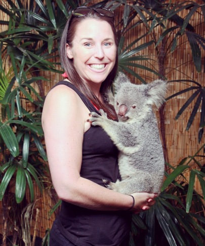 Kelli in Cairns with Nellie