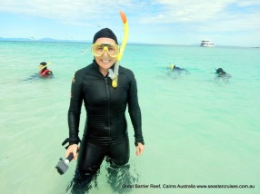 Kelli in the Great Barrier Reef