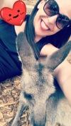 Kelli and wallaby