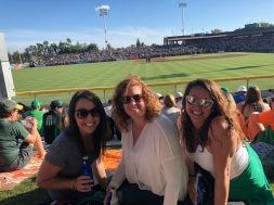 Lauren, Leslie and Kelli at SF giants game, Scottsdale, Arizona